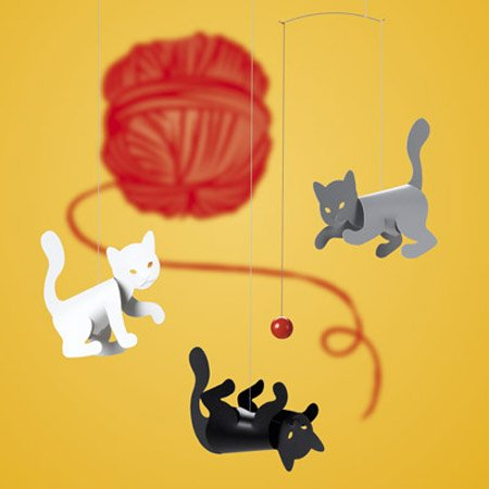 Flensted Mobiles Nursery Mobiles, Kitty Cats - 1