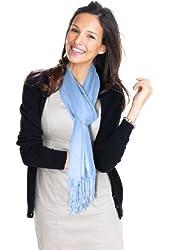 Lauren Solid Color Stunning Pashmina (Light Blue)