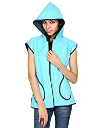 Rajrang Womens Cotton Sky Blue Large Jacket