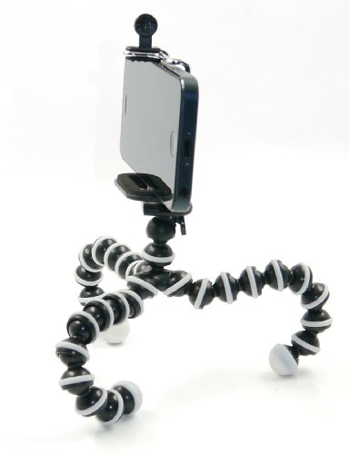 BLISS-MrOctopus-S-Size-Gorillapod-Tripod-Stand-Holder-for-Telephoto-Lens-DSLR-Camera-Large-Screen-Android-Cellphone-Lightweight-Adjustable-Grey-and-Black