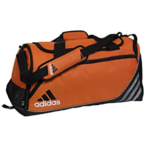 adidas Team Speed Small Duffel, Team Orange (12 x 22 x 12-Inch)