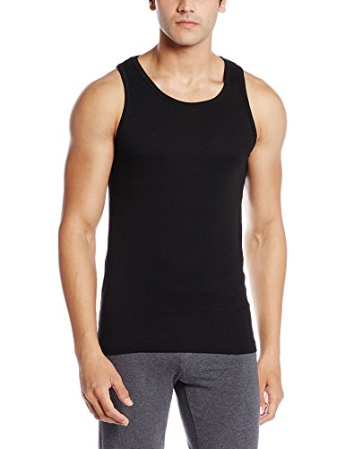 Jockey Men's Cotton Vest (8901326106341_FP04-0105-Black-Medium)