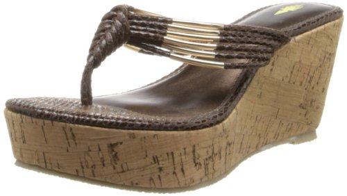 Volatile Women's Hilo Wedge Sandal,Brown,6 B US