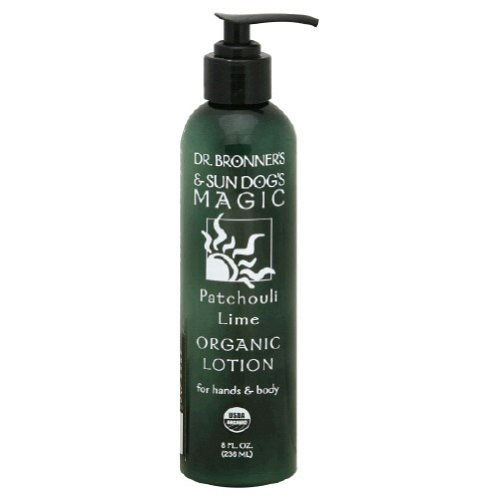 Dr. Bronner's & All-One Organic Lotion for Hands & Body, Patchouli Lime, 8-Ounce Pump Bottle