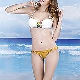 XARA moda flor rhinestone atractivo dividir ropa de playa bikini conjunto de trajes de baño traje de baño de las mujeres , Green , M