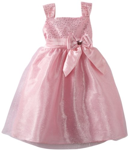 So La Vita Girls 2-6x Sequined Bodice With Satin Sash Dress, Pink, 2T
