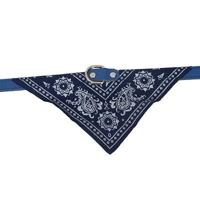 Blue Adjustable Pet Dog Cat Puppies Triangle Collars Scarf Neckerchief Necklace