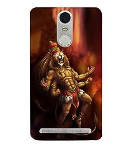 Lord Narsinha 3D Hard Polycarbonate Designer Back Case Cover for Lenovo K5 Note :: Lenovo Vibe K5 Note Pro