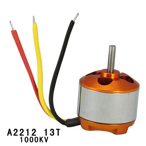Gangnam Shop A2212 13T 1000KV 3.17mm Shaft Diameter Brushless Outrunner Motor for RC Aircraft