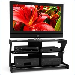 Sonax Sonoma Black Contemporary TV Stand for 37-48 Inch Flat Panel HD TVs