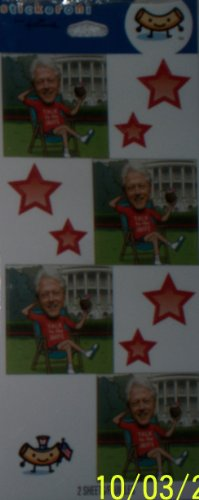 "Bill Clinton Fun Political Stickeroni Stickers ""Talk to the Wife"" - 1"