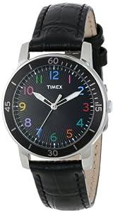 Timex Women's T2P050KW Ameritus Sport Black Dial Multi-Colored Numbers Watch