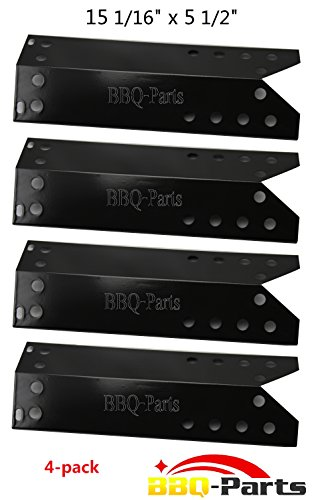 BBQ-Parts PPF781 (4-pack) Porcelain Steel Heat Plate, Heat Shield, Heat Tent, Burner Cover, Vaporizor Bar, and Flavorizer Bar Replacement for for Kenmore Sears, Nexgrill, Sunbeam Grillmaster, Lowes Model Grills (15 1/16