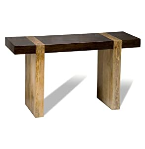 Amazon.com : Berkeley Chunky Wood Modern Rustic Console Sofa Table