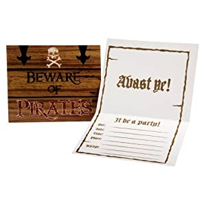 Click to buy Pirate Birthday Party Ideas: 8 Pirate invitations from Amazon!