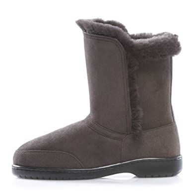 Dominion 'Jean' Women's Shearling Boots with Feature Side Seams, Made in New Zealand