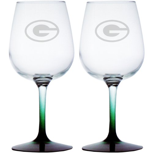 NFL Green Bay Packers 12.75-Ounce Wine Glass Set