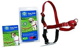 PetSafe Easy Walk Dog Harness, Large, Red/Black