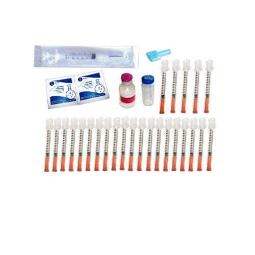 23 - 30 Day Injection Kit for hCG Diet (hCG Not Included) ~ FormaGenix hCG Supplies & Mixing Kit
