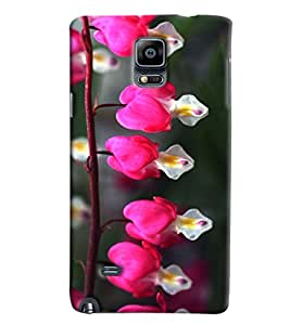 Blue Throat Pink Rose Effect Printed Designer Back Cover/ Case For Samsung Galaxy Note Edge