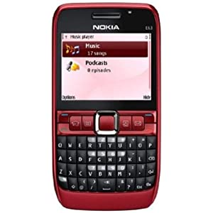 Nokia E63-2 Unlocked Phone with 2 MP Camera, 3G, Wi-Fi, Media Player, and MicroSD Slot–U.S. Version with Warranty (Ruby Red)