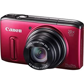 Canon PowerShot SX260 Digital Camera (Red)