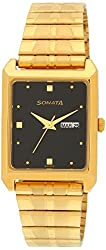 Sonata Analog Black Dial Mens Watch - 7007YM04