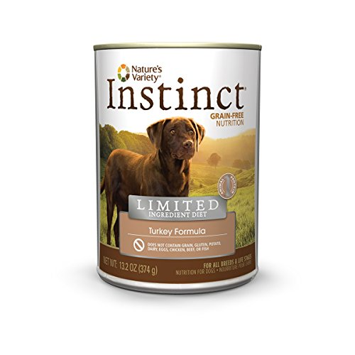 Nature's Variety Instinct Limited Ingredient Diet Grain Free Turkey Formula Canned Dog Food, 13.2 oz. Cans (Case of 12) (Instinct Canned Chicken Dog Food compare prices)