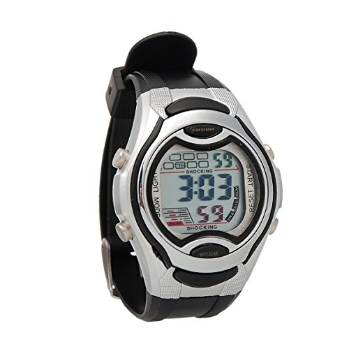Mingrui Unisex Sport Runner'S Fit Child Digital Wrist Watch Waterproof Outdoor Black