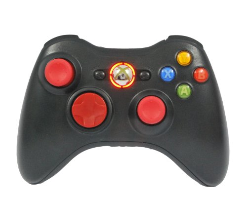 Xbox 360 Rapid Fire Wireless Controller 27 Modes With Red D-Pad, Leds, And Thumb Sticks For Cod Ghost, Mw3, Black Ops 2 Modded