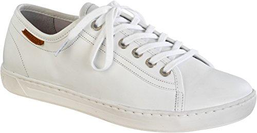 BIRKENSTOCK ARRAN 455341 SCARPE DONNA sneakers stringate pelle bianca (eur 38)
