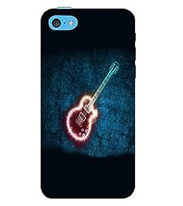 FUSON 3D Designer Back Case Cover for IPHONE 5C - D9587