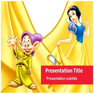 snow white powerpoint ppt template walt disney powerpoint template powerpoint templates. Black Bedroom Furniture Sets. Home Design Ideas