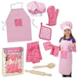 Deluxe Chef Set: Apron, Chef Hat, Utensils, Hot Pad