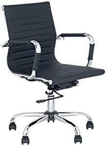 com best deal depot mid back leather adjustable rotating office chair