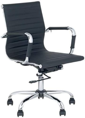 Best Deal Depot Mid-Back Leather adjustable Rotating Office Chair Computer Rooms Black