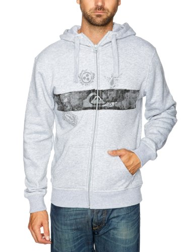 Quiksilver Hood Zip-KPMSW9823 Men's Sweatshirt Light Grey Heath XX-Large