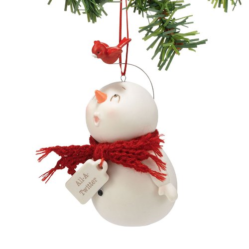 Department 56 Snow Pinions All a Twitter Ornament, 4-Inch
