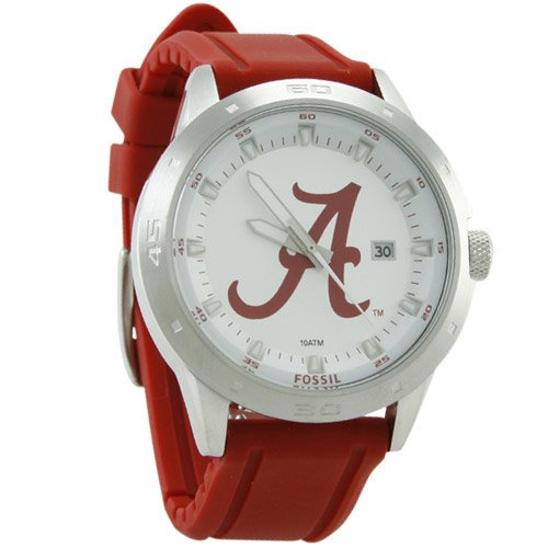 Fossil Alabama Crimson Tide Crimson Automatic Movement Strap Watch