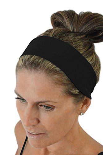 Ice cream INTENSITY Nero Black Jogging Headband: No slip, Antibacterial, Hypoallergenic and Thermo Regulating