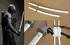Dream2reality Cosplay G.I. Joe Snake Eyes set of 2 White Medium Carbon Steel Sword