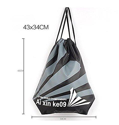 JSH Coulisse Pouch Bag Abbigliamento e Scarpe Sacchetto Impermeabile del Sacchetto Piscina Beach Backpack (Starlight2)