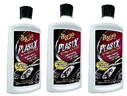 Meguiar\'s G12310 PlastX Clear Plastic Cleaner & Polish - 10 oz. (3 pack)