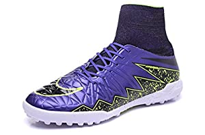 Purple Men's Hypervenom Phantom Premium II2 Obra TF Football Shoes With ACC High Top Soccer Boots