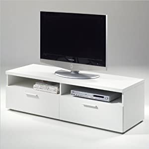 tvilum hayward tv stand for tv 39 s up to 55 inch white entertainment stands. Black Bedroom Furniture Sets. Home Design Ideas