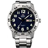 Orient #EM7A001D Men's Aviator Stainless Steel Blue Easy Reader Dial Automatic Watch [並行輸入品]