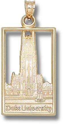 Duke Blue Devils Chapel Pendant - 14KT Gold Jewelry by Logo Art