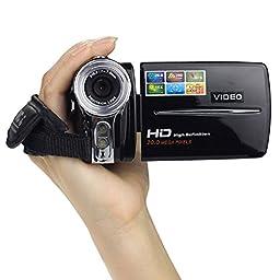 Sannysis(TM) 1PC Luxury 3In TFT LCD 20MP Digital Video Camcorder 16x Digital Zoom DV Camera(Black)