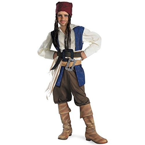 Pirates of the Caribbean - Boy's Costume: Jack Sparrow- Small
