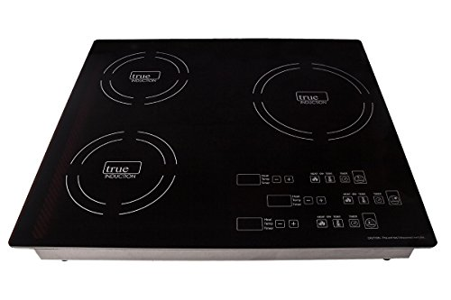 True Induction TI-3B  Energy Efficient Induction Cooktop, Three Burner Counter Inset, Black (Induction Cooktop Triple compare prices)